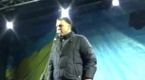 Виступ Олега Тягнибока на Майдані Незалежности
