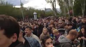 Митинг за Единую Украину в Донецке 28 апреля