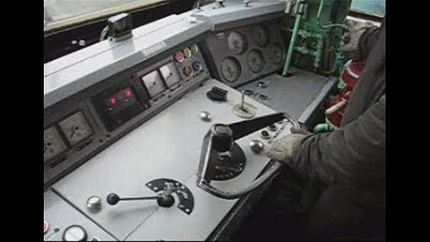 Видео из кабины электровоза ЧС6 с поездом №159