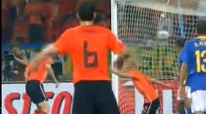 Голландия-Бразилия-2:1 гол Снейдера (68)