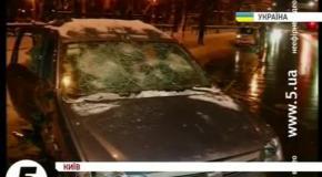 Беркут разбил автомобили автомайдановцев и похитил их