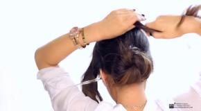 Как сделать красивую прическу за 2 минуты