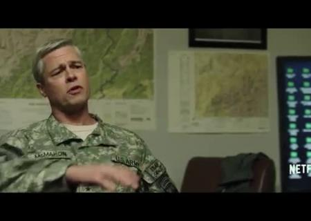 Поседевший Брэд Питт появился втизере фильма «Машина войны