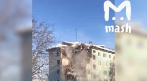 Обвал трех этажей дома в Мурманске