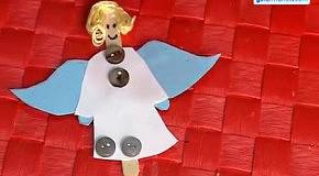 Eлочные игрушки собственными руками: ангел