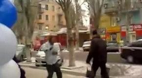 Алкогольные танцы на морозе