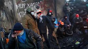 Готовы к бою. Фотографии активистов накануне очередного заседания ВР