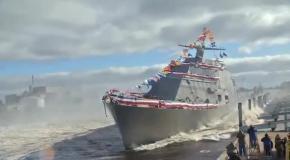 Как спускают на воду корабли