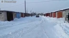 Запорожец-снегоуборщик