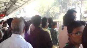 Давка в индийском метро