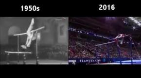 Как отличается современная гимнастика от гимнастики 50-60-х годов