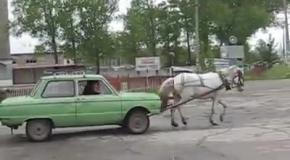 Запорожец умеет ездить и без бензина!
