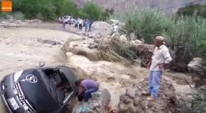 Неудачное форсирование разлившейся реки в Перу