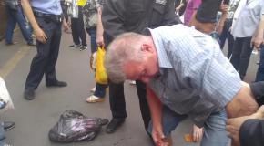 Полковник ВСУ защищал женщину от неадекватного торгаша