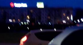 В Херсоне повалили памятник Ленину (22.02.2014)