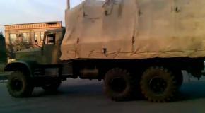 Военная техника едет в освобожденный аэропорт Краматорска