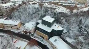 Скандальный Театр на Подоле: вид с воздуха