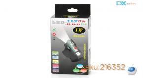 USB Powered 1W 190lm 6500K 3-Mode OSRAM LED White Flashlight Holder – Black-dealextreme