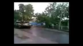 Военная техника на Востоке: танки в поселке Талаковка