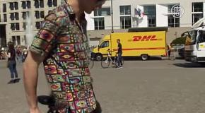 Немец изобрёл городской «полувелосипед»