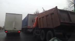 Приезд Януковича пробка в Макеевке