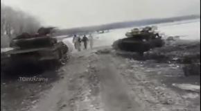 Подбитые танки ДНР под Углегорском