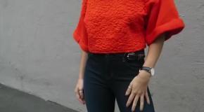 Интересные образы с джинсами-клеш