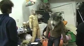 Реалистичный костюм волка