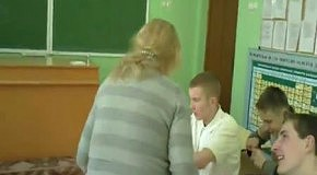 Издевательство над школьной учительницей