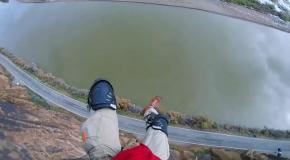 Очень жесткое приземление парашютиста