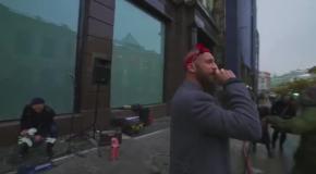 Иван Дорн станцевал на улицах Москвы