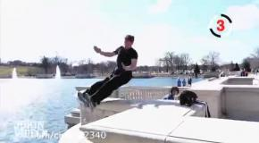 Паркур в озере