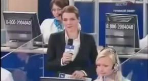 В прямом эфире бабка обматерила Путина +18
