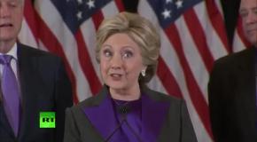 Хиллари Клинтон признала победу Дональда Трампа