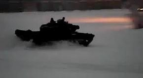 Прикольный дрифт на танке