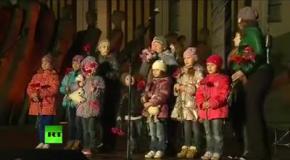 На митинге в Москве детей заставили читать антиукраинские стихи