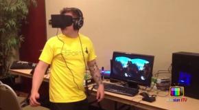 Реакция людей на Oculus Rift (виртуальная реальность) .