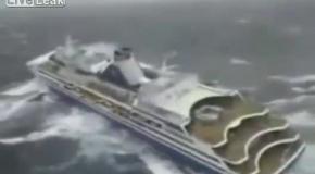 Круизный корабль во время шторма (пародия)