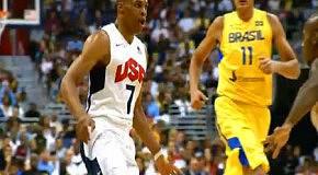 Красочные моменты матча США - Бразилия