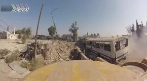 Акация разбивает позиции боевиков в Аль-Кабуне