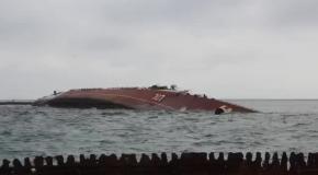 Российские войска затопили своей военный корабль Очаков для блокады украинского флота
