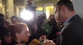 Оробец поругалась в Раде с Кличко