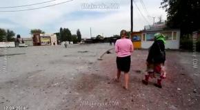 Макеевка, пос. Ханженково (12.09): последствия обстрела автостанции
