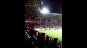 Как болельщики пели народный хит про Путина на матче Беларусь - Украина
