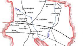 Карта Барышевский район, Киевская область, Украина