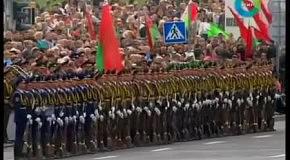 Эффект домино на параде в Белоруссии