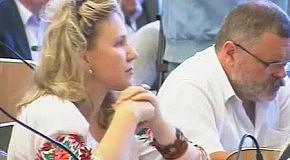 Ірина Фаріон на сесії Львівської обласної ради