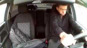 Наркоман угнал и разбил патрульную машину