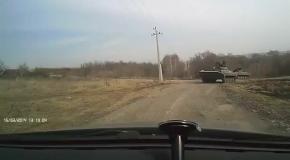 Реалии Украины: как автомобилисты уступают танкистам