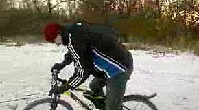 Андрюша  на льду!